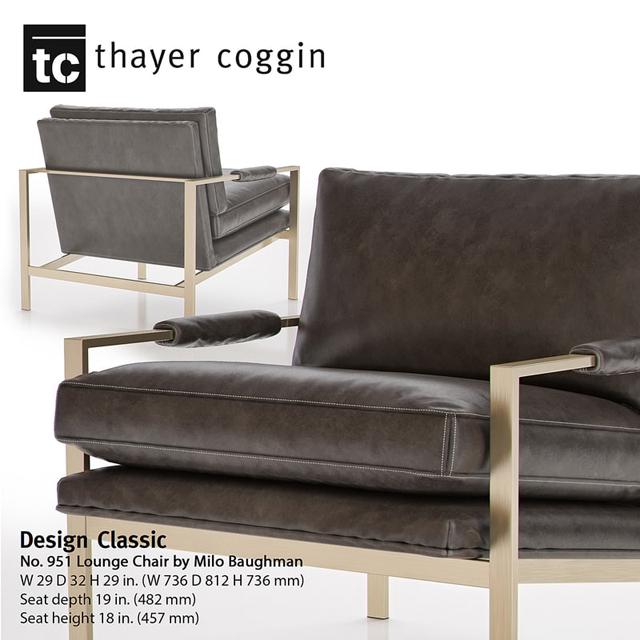 Milo Baughman Classic Design Lounge Armchair 3D Model