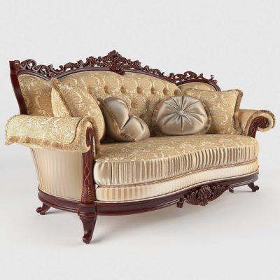Milord Gold Sofa 3D Model