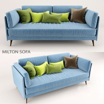 Milton Small Sofa 3D Model