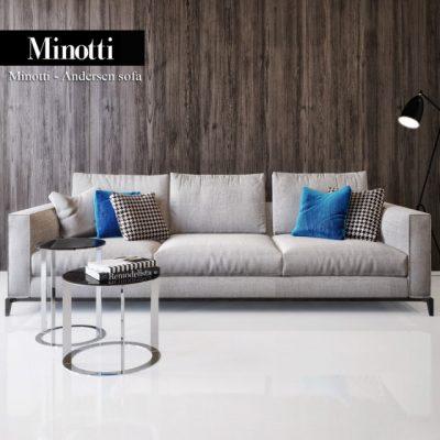Minotti Andersen Sofa Set-02 3D Model