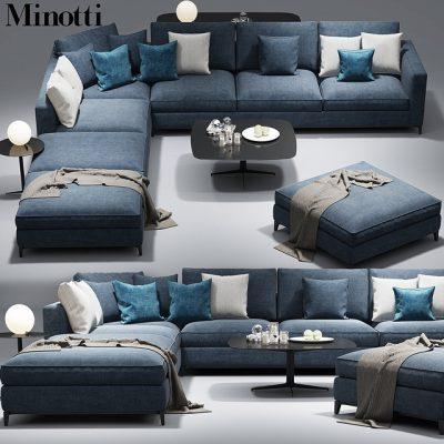 Minotti Anderson Clyfford Sofa 3D Model