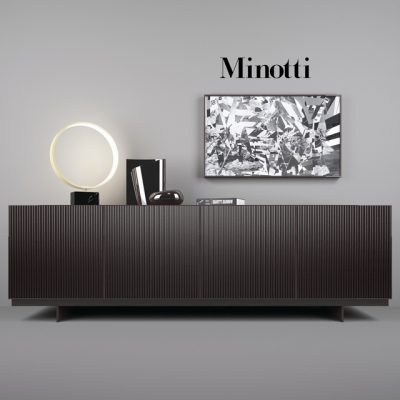 Minotti Aylon Sideboard 3D Model