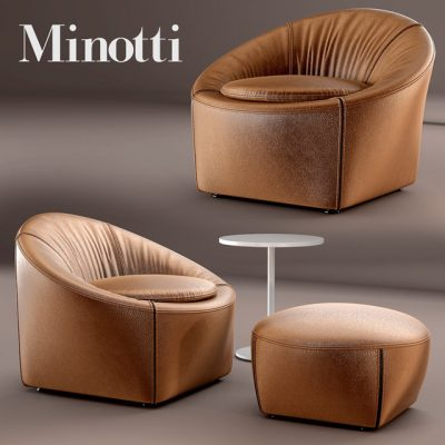 Minotti Capri Armchair 3D Model