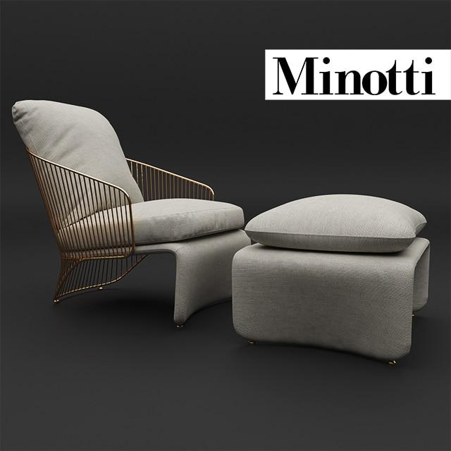 Minotti Colette Armchair 3D Model