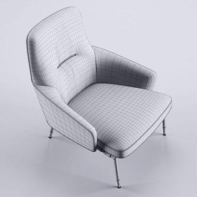 Minotti Coley Armchair 3D Model