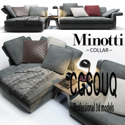Minotti Collar Sofa 3D Models