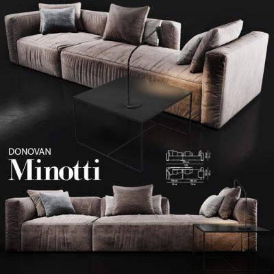 Minotti Donovan Sofa 3D Model
