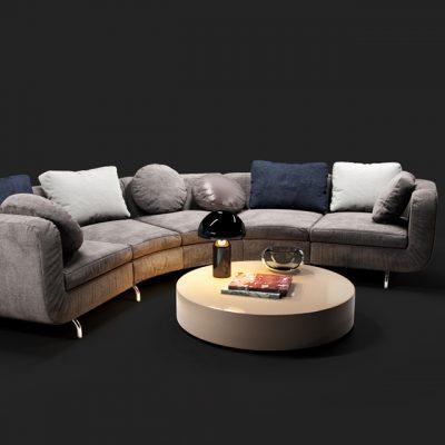 Minotti Dubuffet Sofa Set 3D Model 5