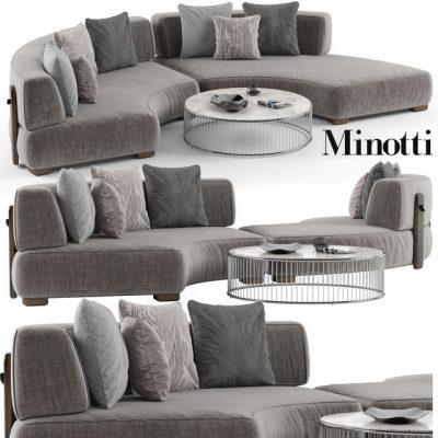 Minotti Florida Sofa Set-01 3D Model