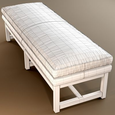 Minotti Flynt Bench 3D Model 2