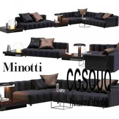 Minotti Freeman Sofa 3D model (3)