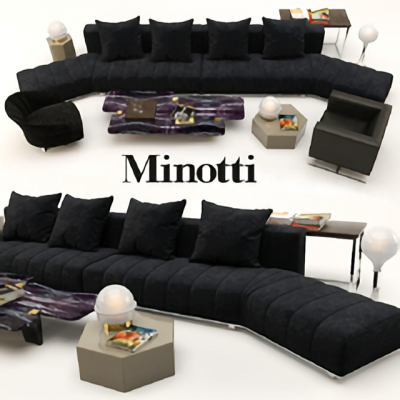 Minotti Freeman Vol.03 Sofa 3D Model