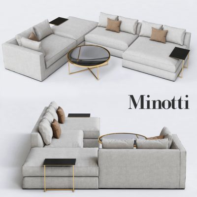 Minotti Hamilton Sofa Set-02 3D Model