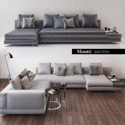 Minotti Ipad Sofa Set 3D Model
