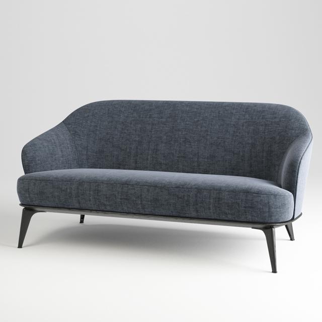 Minotti Leslie Chair & Sofa 3D Model 2