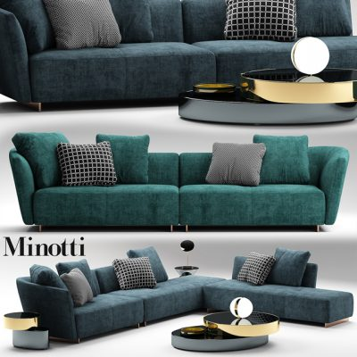 Minotti Lounge Sofa 3D Model