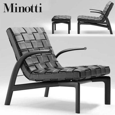 Minotti Pasmore Armchair 3D model (1)
