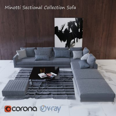 Minotti Sectional Sofa Collection 3D Model