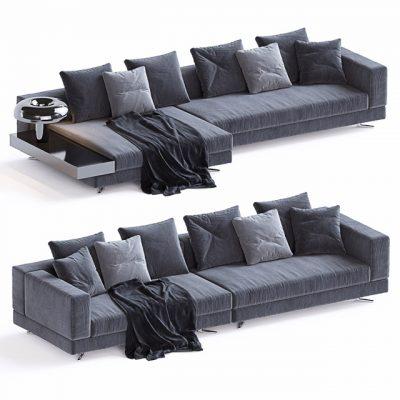 Minotti Set-06 Sofa 3D Model 3