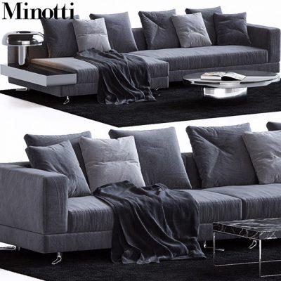 Minotti Set-06 Sofa 3D Model