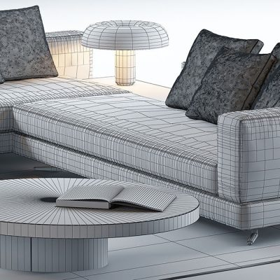 Minotti Set 5 3D Model