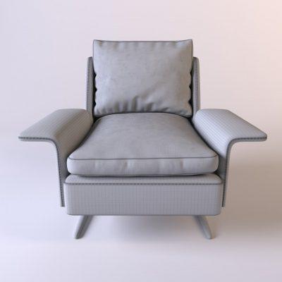Minotti Spencer Poltrona Armchair 3D Model