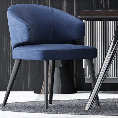 Minotti Table & Chair Set-02 3D Model
