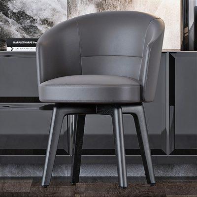 Minotti Table & Chair Set-03 3D Model