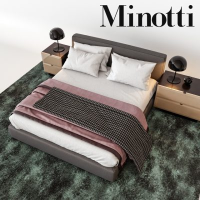 Minotti Towell Bed 3D Model