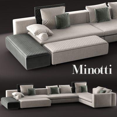Minotti Yang Modular Sofa 3D Model 2