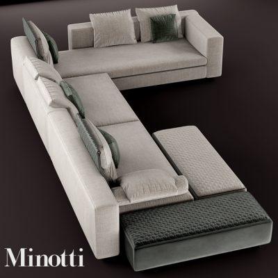 Minotti Yang Modular Sofa 3D Model