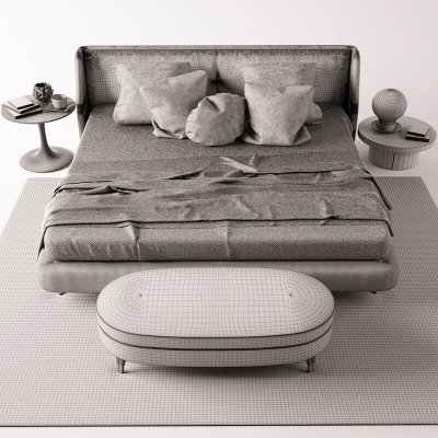 Minotti bed 3D model