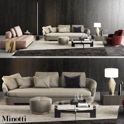 Minotti grand jacques sofa set