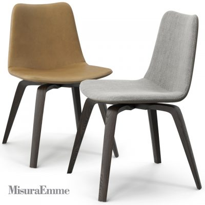 Misura Emme Michelle Table & Chair 3D Model 2