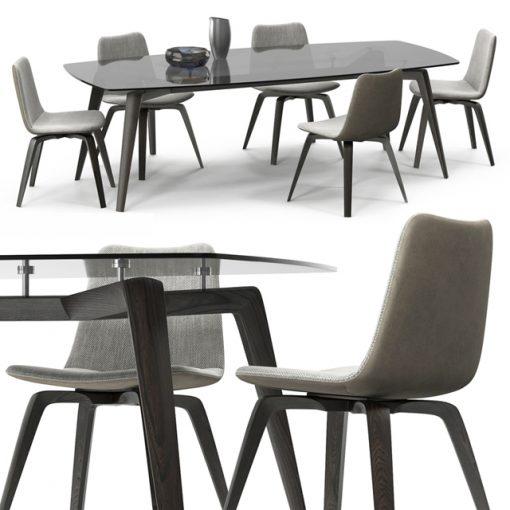 Misura Emme Michelle Table & Chair 3D Model