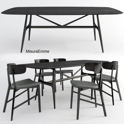 MisuraEmme Table & Chair 3D Model