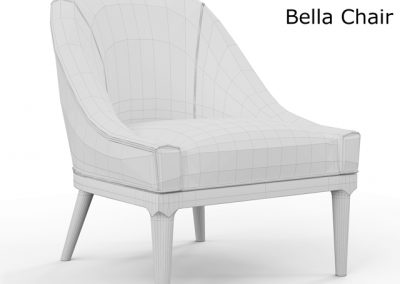 Mitchell Gold and Bob Williams Bella Chair 3D Model 3
