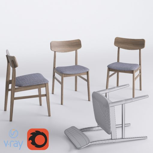 Miton - Table & Chair 3D Model 2