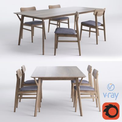 Miton – Table & Chair 3D Model