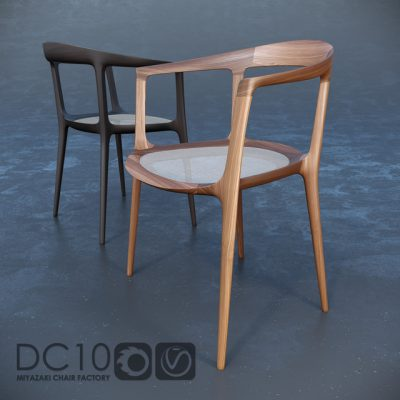 Miyazaki Factory DC10 Chair 3D Model