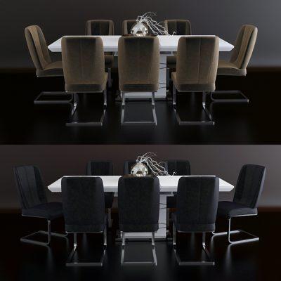Mobi Dining Rooms – Morokko Table & Chair Set-01 3D Model