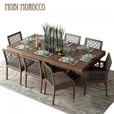 Mobi Dining Rooms – Morokko Table & Chair Set-02 3D Model