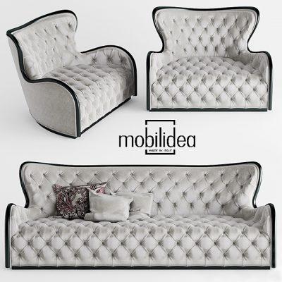 Mobildea Margot Divano Sofa 3D Model