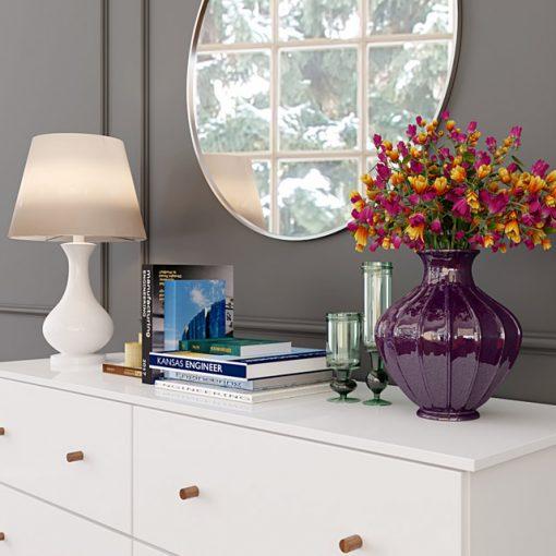 Modern White Dresser 3D Model 2