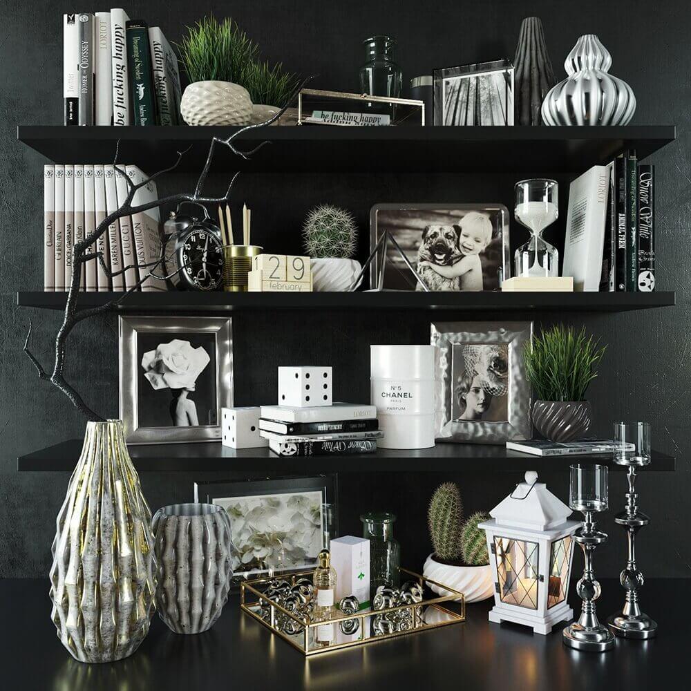 Modern decorative set 3D Model (1)