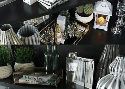 Modern decorative set 3D Model (2)