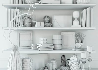 Modern decorative set 3D Model (3)