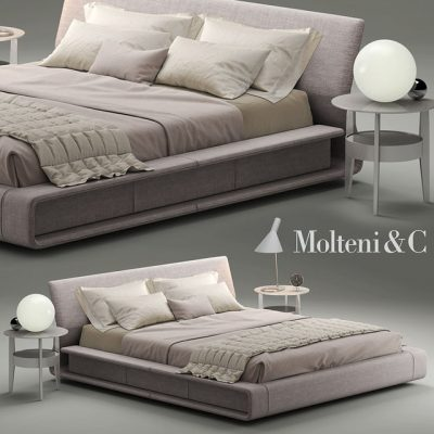 Molteni & C Clip Bed 3D Model