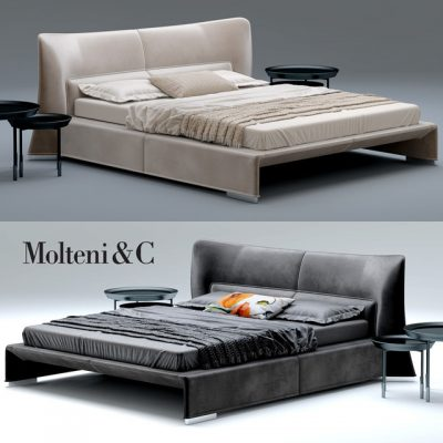 Molteni & C Glove Bed 3D Model