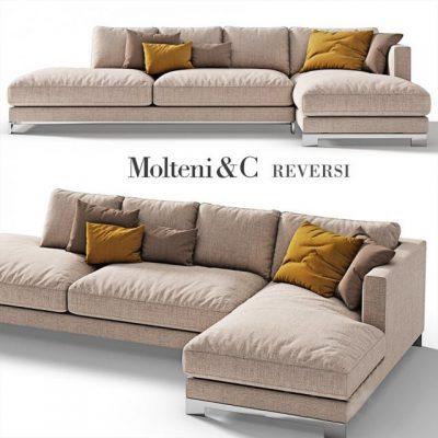 Molteni & C Vietrenders Sofa 3D Model